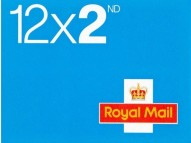 12 x 2nd Class Royal Mail self adhesive stamps