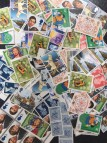 100 x 14p mixed postage stamps