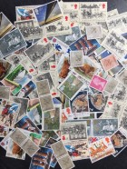 100 x 16p mixed postage stamps