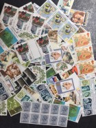 100 x 17p mixed postage stamps