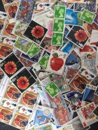 100 x 18p mixed postage stamps