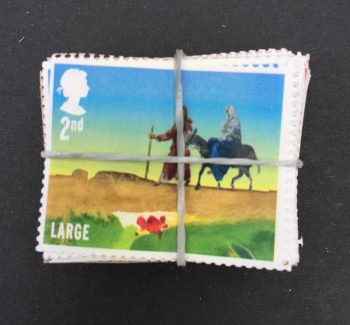2nd class large letter stamps gummed xmas editions